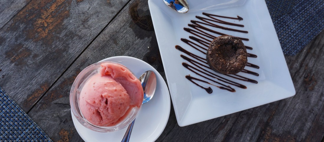 Sweet treats at The Indigo Beach Lounge Restaurant