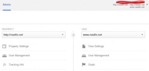 Screen Shot Google Analytic Goals