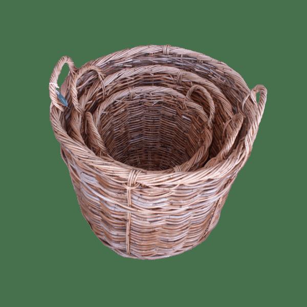 Set of 3 Log Baskets SP025A-3