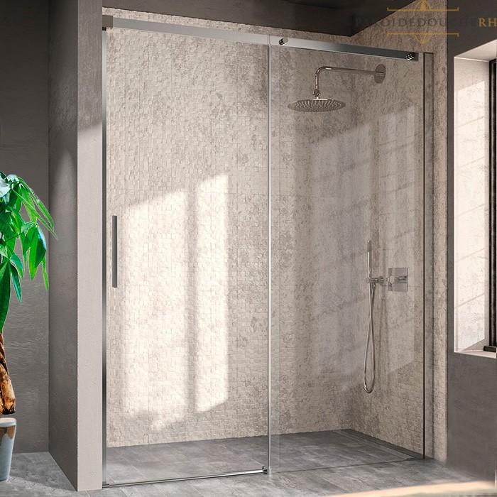 paroi de douche en niche porte coulissante 8 mm rh1226