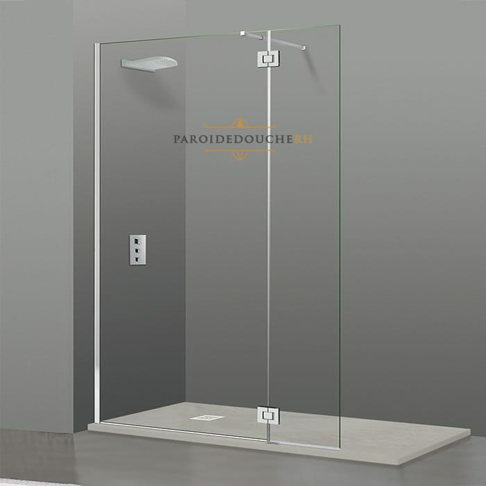 paroi de douche fixe et porte a charniere rh1942