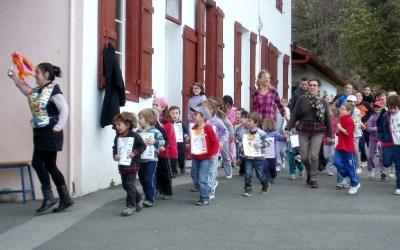L'école Maurice Harriet à Halsou.
