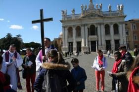 2-chemin de croix arrivee sur St Jean de Latran
