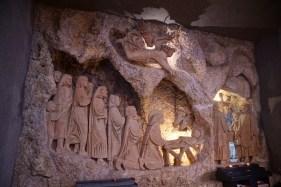 crèche dans église de Greccio