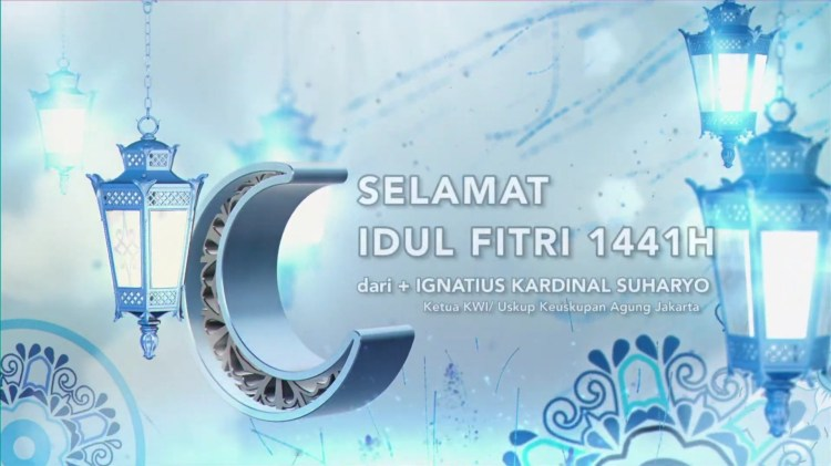 Uskup +Ignatius Kardinal Suharyo – Selamat Hari Raya Idul Fitri 1441H