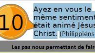 «Ayez en vous le même sentiment dont était animé Jésus-Christ» (Philippiens 2,5) 2017 PDV OCTOBRE-fr Articles similaires