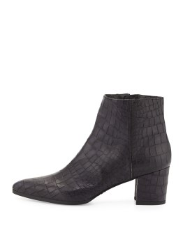 STUART WEITZMAN -Zepher Croc-Embossed Ankle Boot