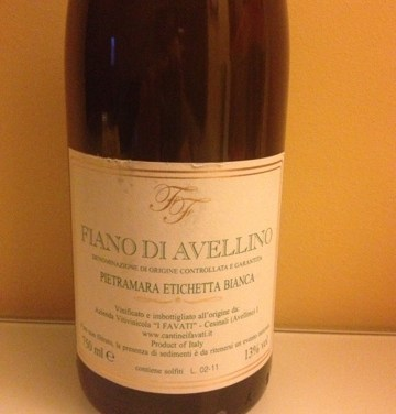 Degustazione: Fiano di Avellino Pietramara Etichetta bianca 2010, I Favati