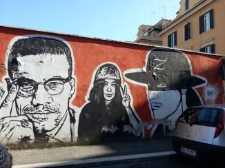 Malcom X, Yoko Ono, Zorro, JB Rock, Wall of Fame