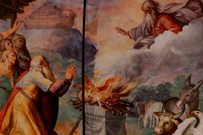 Noè, il monte Ararat e il sacrificio, villa d'Este