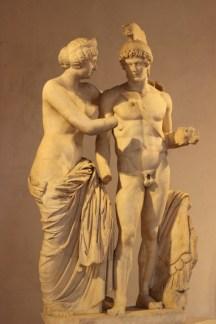 Coppia di sposi, Marte e Venere, chiostro Ludovisi
