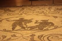 Ecrole e Acheloo, mosaico Terme di Dcioleziano