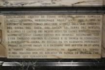 Iscrizione don Eugenio Ruspoli, Santa Maria in Ara Coeli