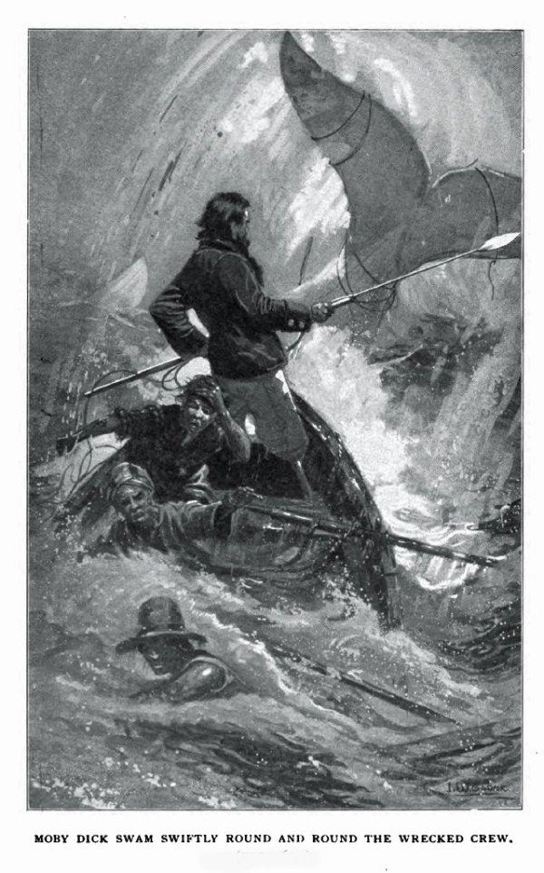 Moby Dick e il Capitano Achab