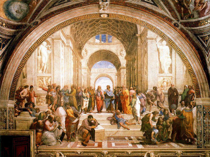 Raffaello: la scuola di Athene (immagine via web)
