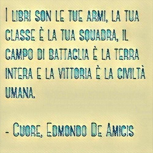 Citazione da Cuore di Edmondo De Amicis