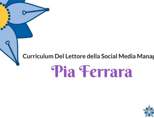 Curriculum Del Lettore di Pia Ferrara: comunicare la magia dei libri, con i libri e per i libri