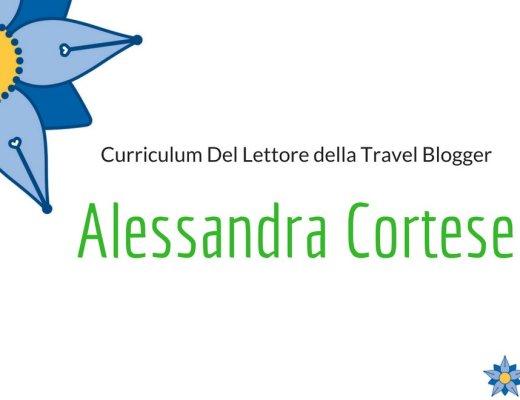 Curriculum Del Lettore di Alessandra Cortese: i libri e le letture di una Travel Blogger