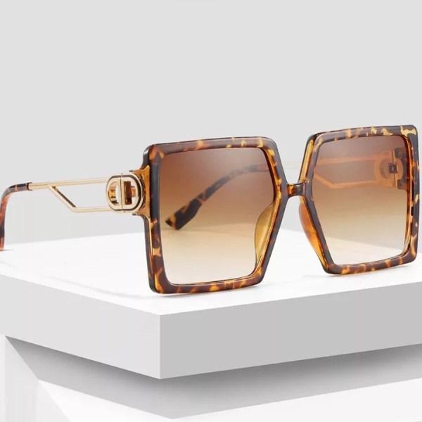 Molly leopárd mintás kocka napszemüveg