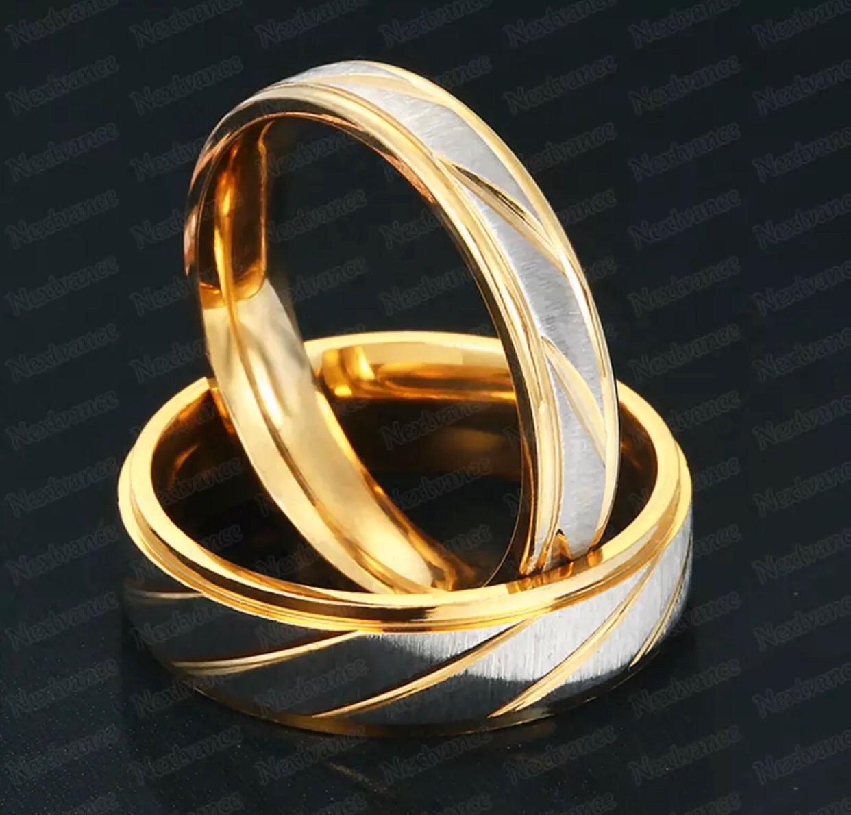 Anna arany ezüst színű nemesacél férfi gyűrű