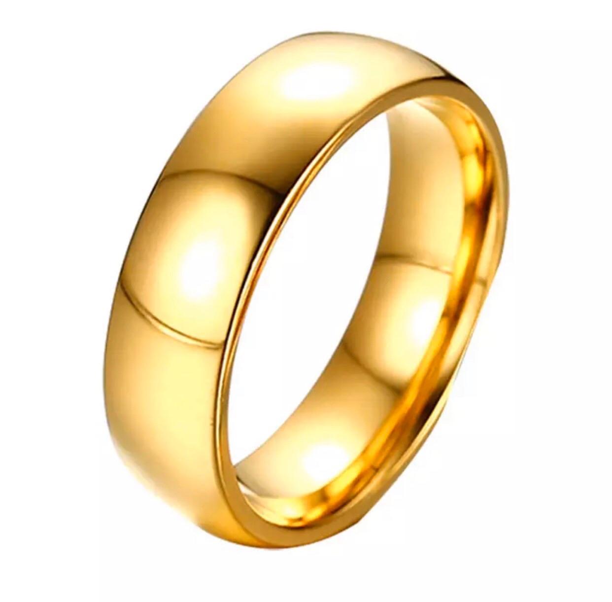 Dalma arany színű nemesacél férfi gyűrű