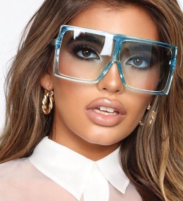 Lea oversized kék női napszemüveg