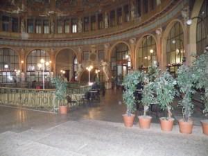 Inside old train station