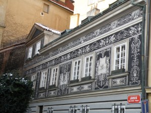 Sgraffito example in mala strana Prague