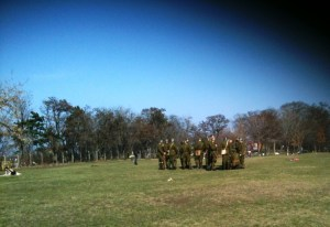 Soldiers in Prague park