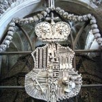 Crest of bones at Kutna Hora Ossuary