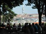 Ziskov tower from Letna Beer Garden