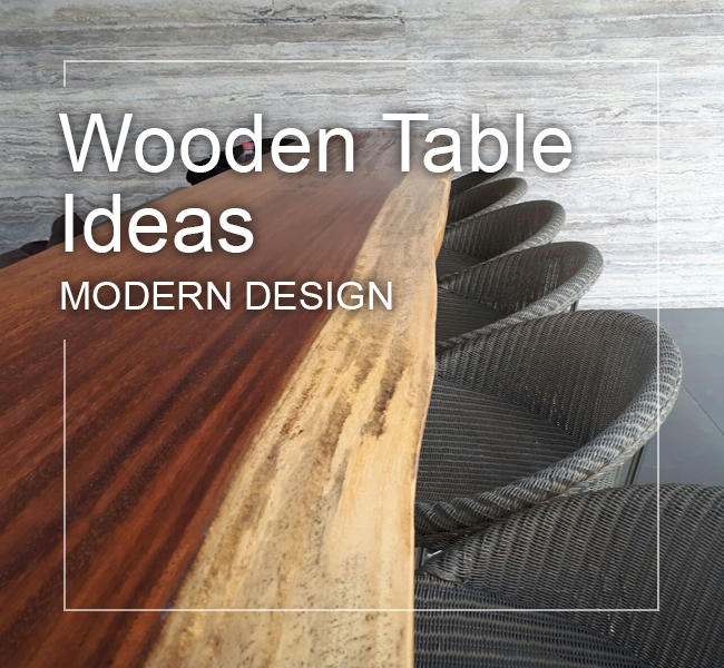 unique wood table ideas for modern