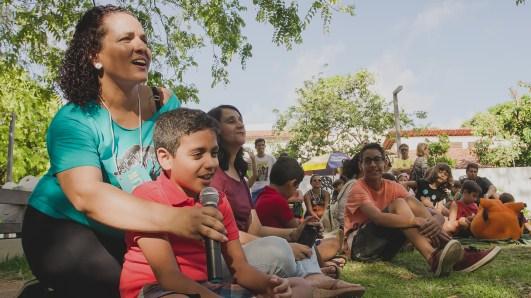 Participação intensa no bate-papo com Allan. Foto: Rafa Medeiros