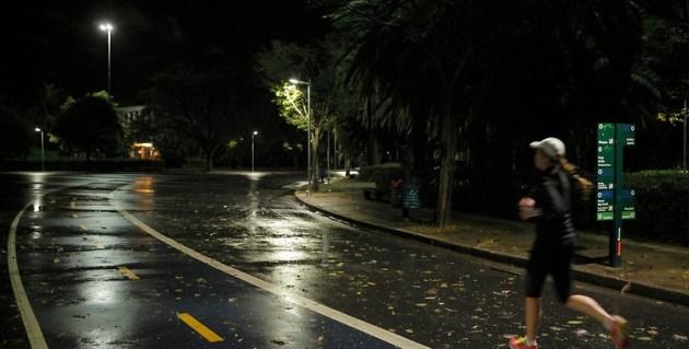 Nova iluminação LED no Parque. Foto Murillo Medina para Phillips.