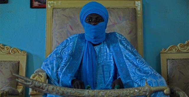 Alfred Weidinger, Bakary Yerima Bouba Alioum, Lamido de Maroua, 2012, Ampliação digital sobre papel Canson