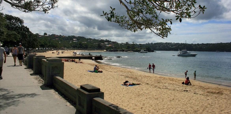 Balmoral Beach, Mosman (Sidney), uma das muitas praias australianas onde é proibido fumar. (Foto: Wikipedia)