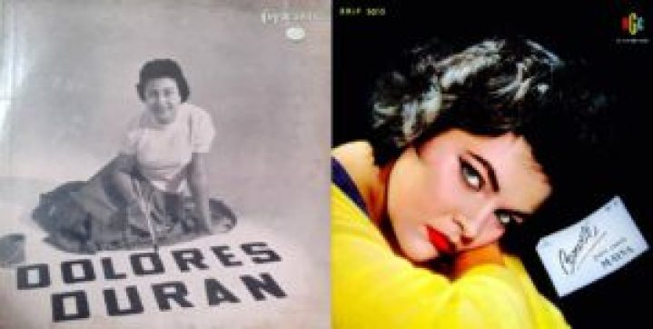 Capas dos discos Dolores Duran com Orquestra, de 1955, e Convite para ouvir Maysa n.º 2, de 1958.