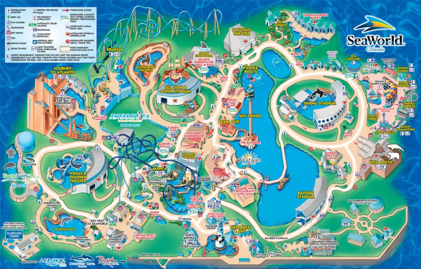 SeaWorld Park Map