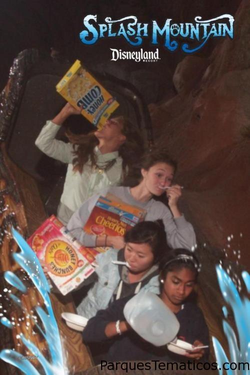 Splash Mountain comiendo cereales 4 amigas