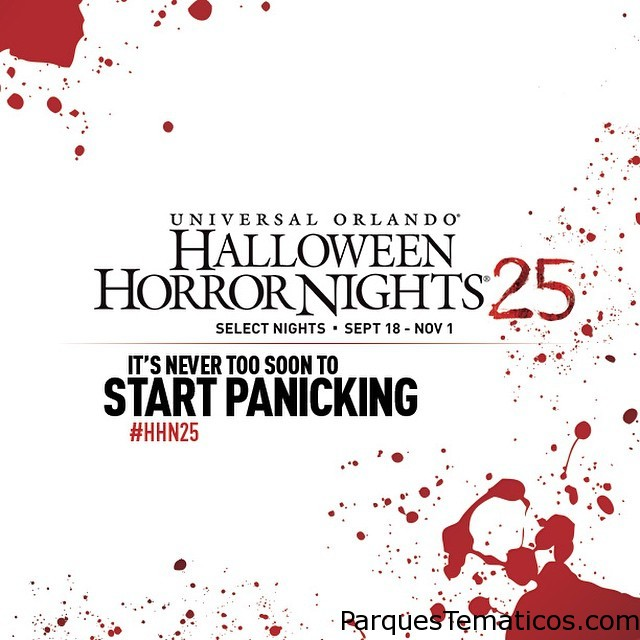 25 years of #terror...start panicking! Hit our profile for the #HHN25 link to some of the gory details. #UniversalOrlando