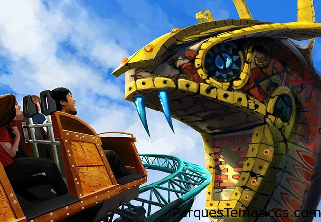Busch Gardens Tampa anunció planes para un nuevo paseo de emoción familia llamada maldición de la cobra , la apertura 2016. Este práctico de giro será el único de su tipo en el mundo , con una elevación vertical y teniendo corredores en una aventura de torbellino de exploraciones emocionantes . Las principales características del viaje incluirán un icono de la serpiente de 80 pies , una caminata sobre llano de Serengeti del parque y los misterios de una excavación arqueológica egipcia.
