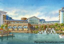 Universal Orlando Resort y Loews Hotels & Resorts han anunciado planes para construir el Loews Sapphire Falls Resort . Será el quinto hotel en el lugar en Universal Orlando Resort , con 1.000 habitaciones y suites con un tema ocasional del Caribe , construida alrededor de una laguna y se eleva cascada. Se espera que el recurso a abrir en el verano de 2016 .