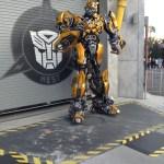 Otro de los sectores para tomarse una foto con los 2 personajes principales de Transformers