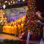 Presented in the America Gardens Theatre at Epcot, Candlelight Processional is one of the most beloved holiday traditions at Walt Disney World Resort. Featuring a joyous retelling of the Christmas story by a celebrity narrator, accompanied by a 50-piece orchestra and a glorious mass choir, this festive performance takes place annually in November and December. Show times are at 5, 6:45 and 8:15 p.m. Epcot is one of four theme parks at Walt Disney World Resort in Lake Buena Vista, Fla.