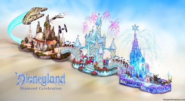 Aventuras en Disneyland Resort llegan a Pasadena en una Carroza del Desfile de Rosas 2016