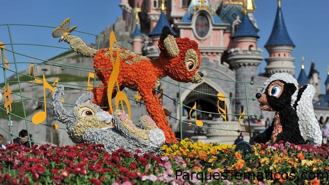 La primavera en Disneylandia París