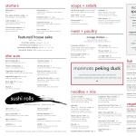 El menú de Morimoto Asia en Disney Springs