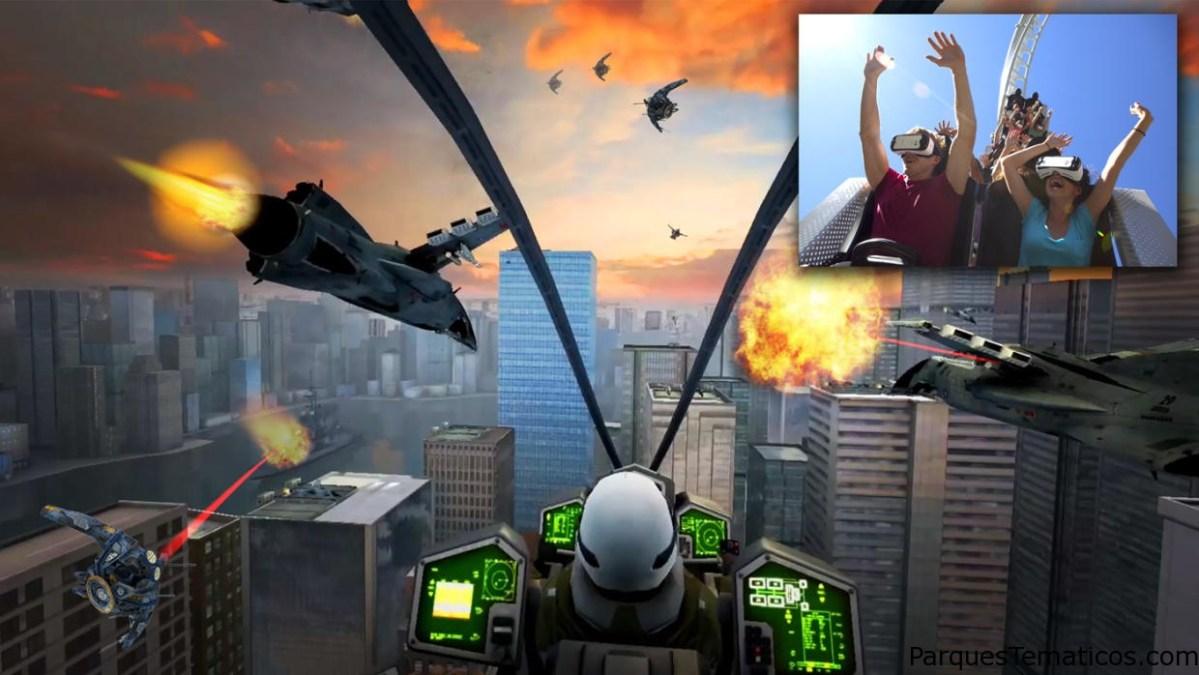 The New Revolution VR Coaster en Six Flags Magic Mountain