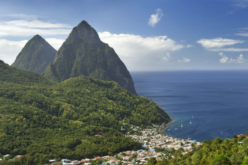 The beauty of St. Lucia awaits Disney Cruise Line guests when the Disney Wonder sails seven-night Southern Caribbean cruises from San Juan, Puerto Rico in 2018. Distinguished by twin mountain peaks, the Pitons, the island of St. Lucia is covered in lush rainforest, cascading waterfalls and white sand beaches (Kent Phillips, photographer)The beauty of St. Lucia awaits Disney Cruise Line guests when the Disney Wonder sails seven-night Southern Caribbean cruises from San Juan, Puerto Rico in 2018. Distinguished by twin mountain peaks, the Pitons, the island of St. Lucia is covered in lush rainforest, cascading waterfalls and white sand beaches (Kent Phillips, photographer)