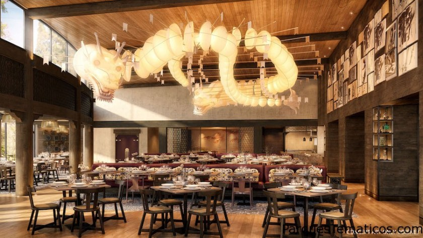 Restaurante en Disney Explorers Lodge, Hong Kong, China